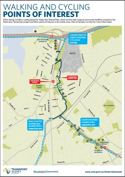 Waterview Shared Walkway Map